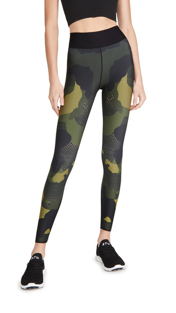 Ultracor Mesh Camo Ultra High Leggings in yellow