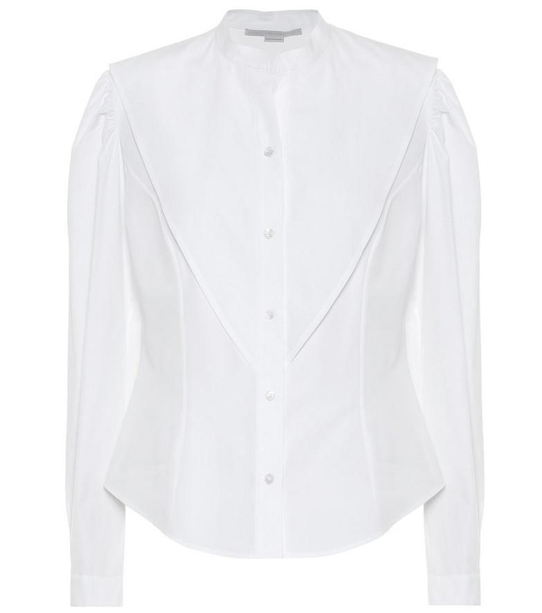 Stella McCartney Cotton-poplin shirt in white