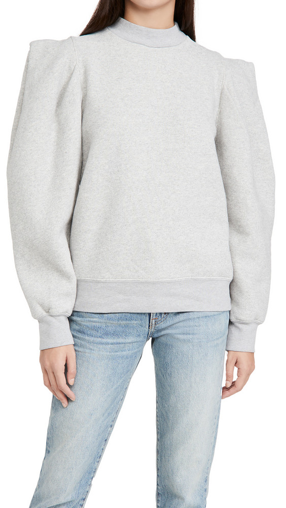 AGOLDE Folded Sleeve Sweatshirt in grey