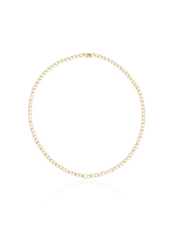 Anita Ko 18K yellow gold pear-diamond necklace