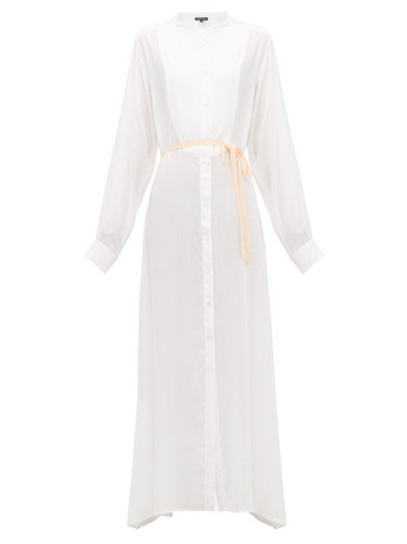 Ann Demeulemeester - Ewing Buttoned Maxi Dress - Womens - Ivory