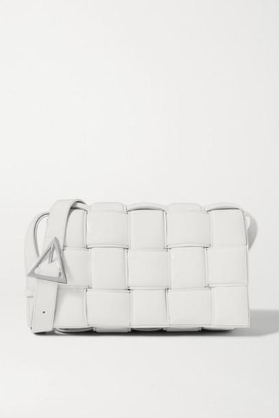 Bottega Veneta - Cassette Padded Intrecciato Leather Shoulder Bag - White