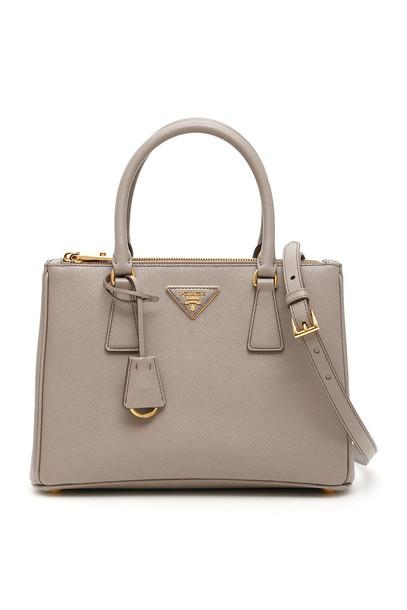 Prada Saffiano Lux Galleria Bag in grey