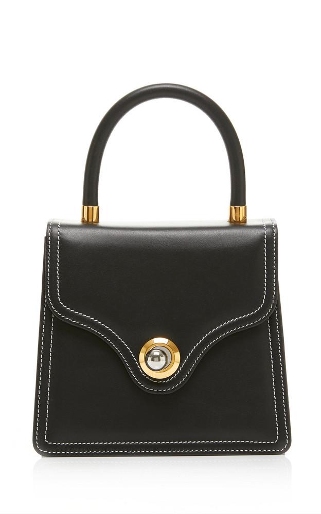 Ratio et Motus Lady Leather Top Handle Bag in black