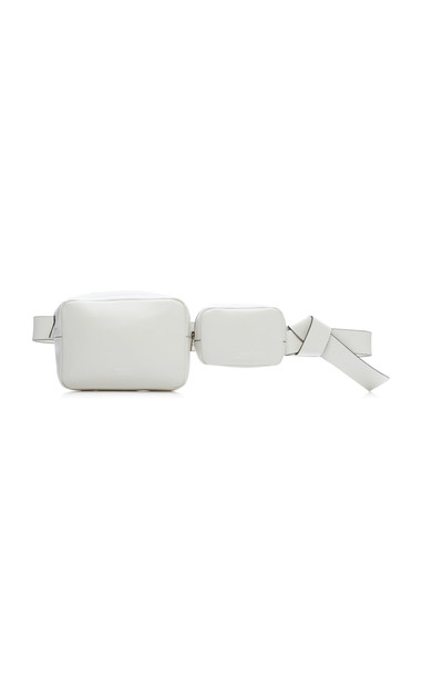 Acne Studios Musubi Knotted Leather Belt Bag in white