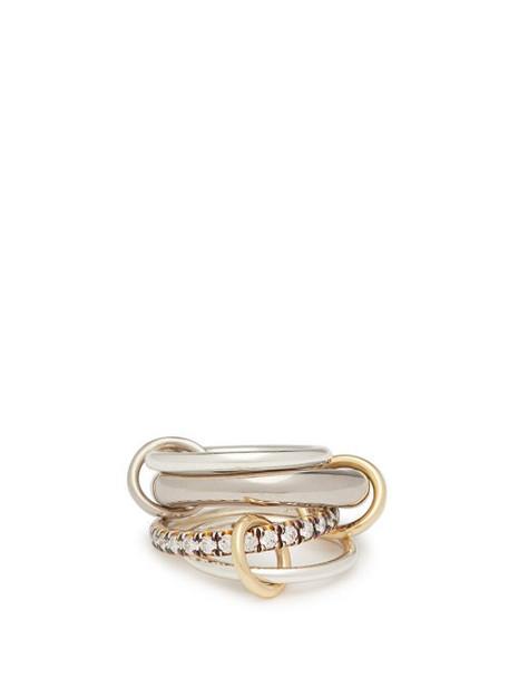 Spinelli Kilcollin - Luna 18kt Black Gold & Diamond Ring - Womens - Black