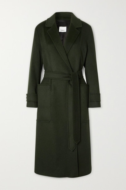 Burberry - Belted Cashmere Coat - Green