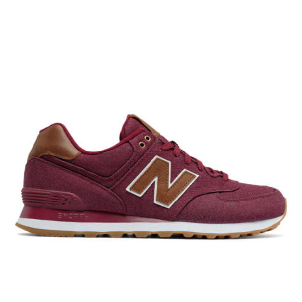 New Balance 574 15 Ounce Canvas Men's 574 Shoes - Red/Brown (ML574TXD)