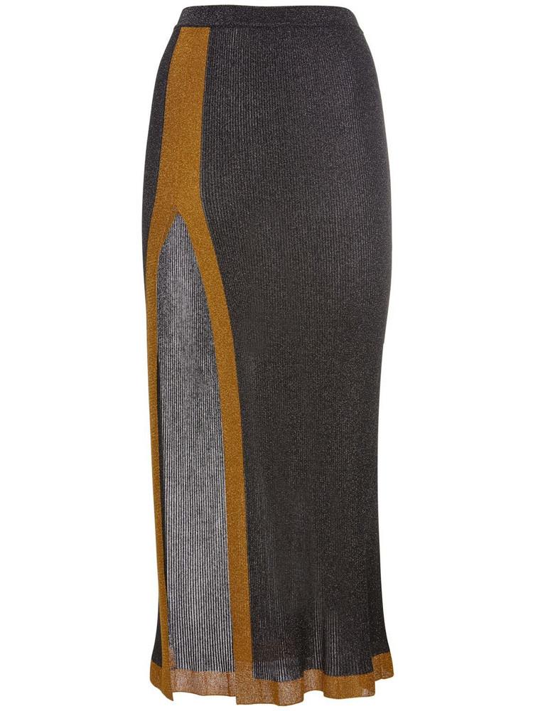 MISSONI Viscose Blend Long Skirt W/ Side Slit in grey