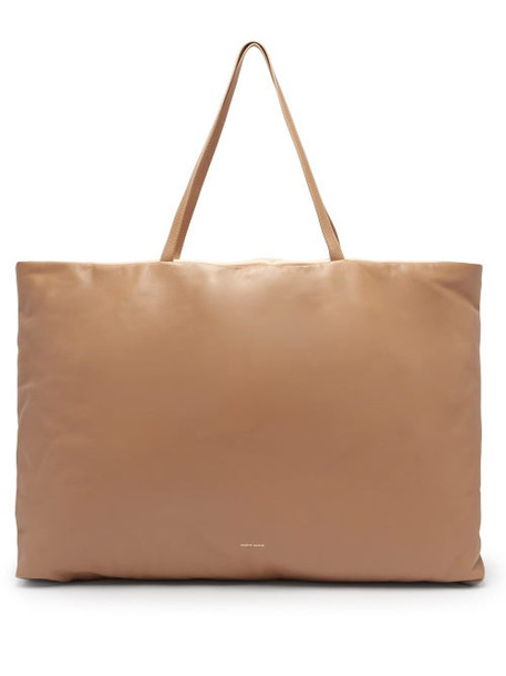 Mansur Gavriel - Pillow Large Padded-leather Tote Bag - Womens - Beige Multi