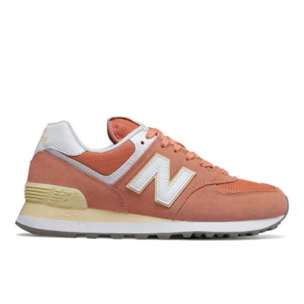 New Balance 574 Essentials Women's 574 Shoes - Orange/Yellow (WL574ESF)