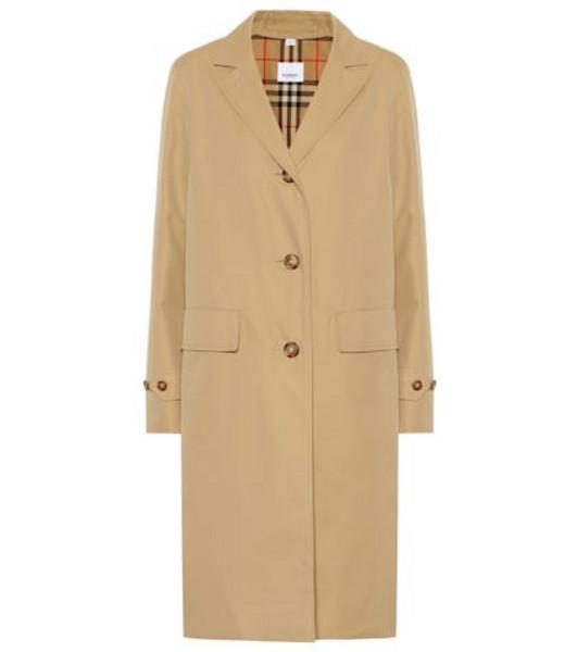 Burberry Cotton gabardine car coat in beige