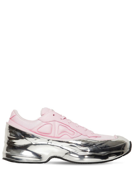 ADIDAS BY RAF SIMONS Rs Ozweego Leather & Nylon Sneakers in pink