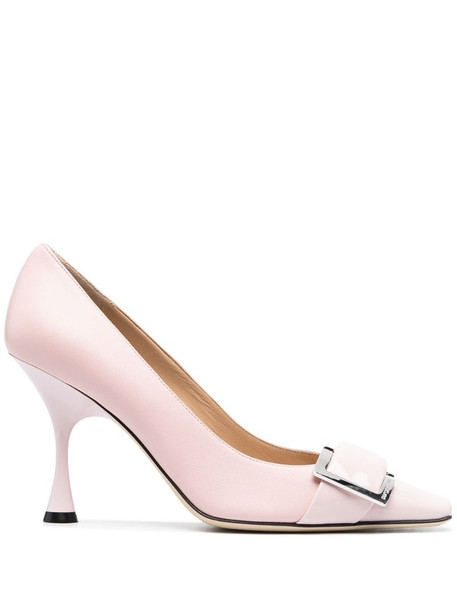 Sergio Rossi crossover strap pumps in pink