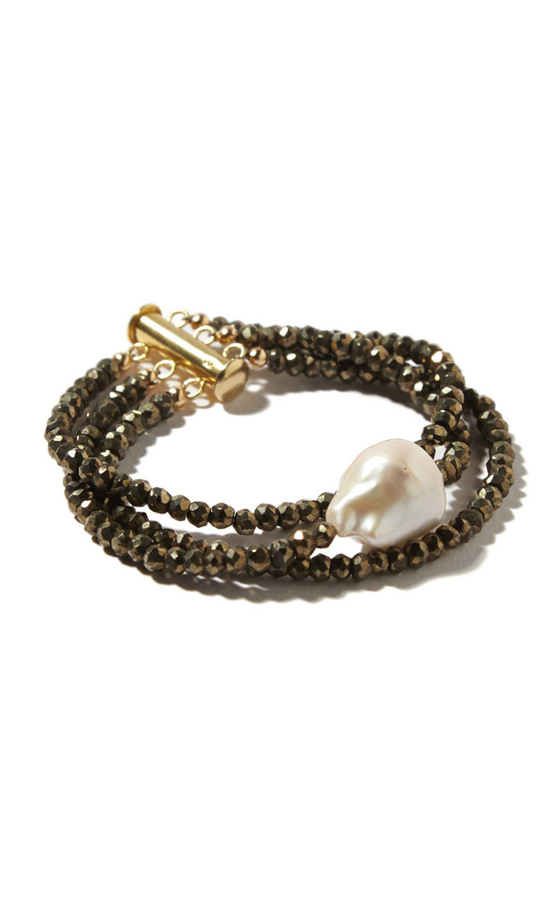 Joie DiGiovanni Pyrite And Pearl Bracelet in metallic