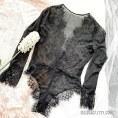 underwear,lace bodysuit,bodysuit,boho,boho chic,style,fashion,lace top,lace lingerie,lace,top,black,black top,black and white,black bodysuit,long sleeves,long sleeve bodysuit,long sleeve dress,deep v,v neck,plunge v neck,black lace top,etsy,suzzlace,lingerie set,lingerie,sexy lingerie,black lingerie,bridal lingerie,sheer lingerie,sexy black lingerie,lingerie top,see through lingerie,lingerie sexy,deep v bodysuits,black lace teddy