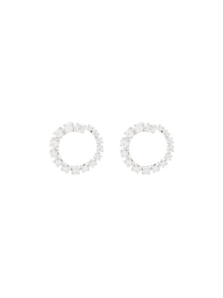 Dana Rebecca Designs 14kt white gold diamond hoop earrings in metallic