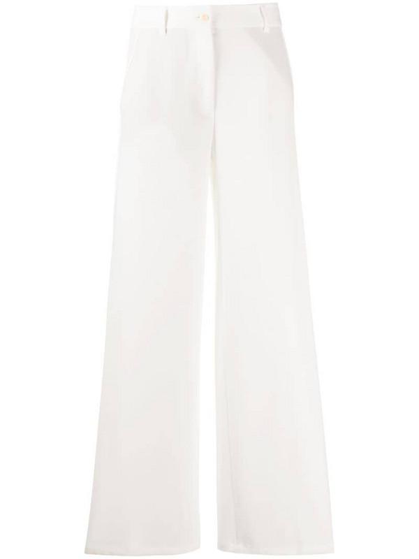 Brag-wette wide leg trousers in white