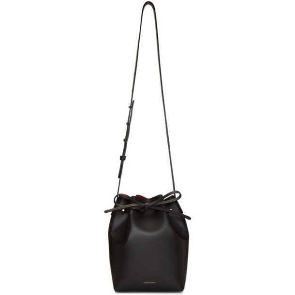 Mansur Gavriel Black Mini Bucket Bag