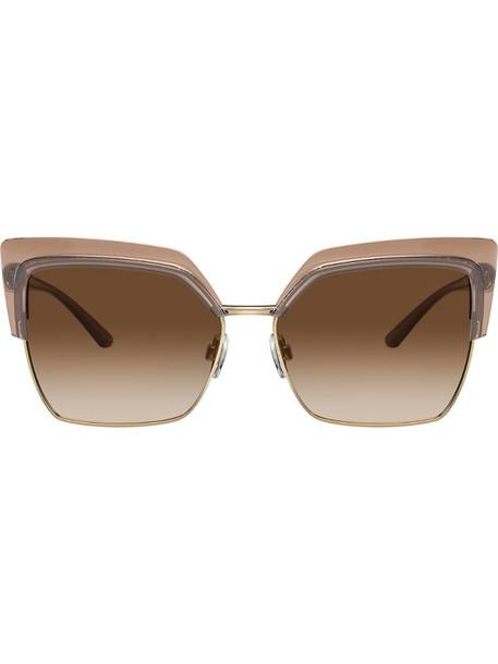 Dolce & Gabbana Eyewear oversized square sunglasses in gold
