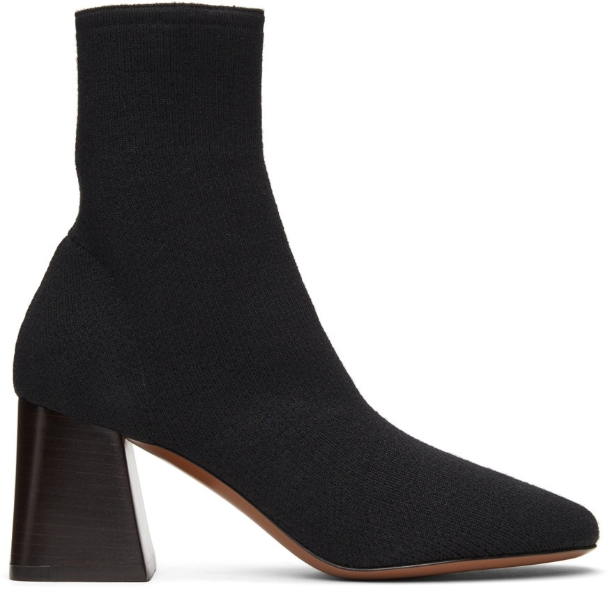 NEOUS Knit Lepus Ankle Boots in black
