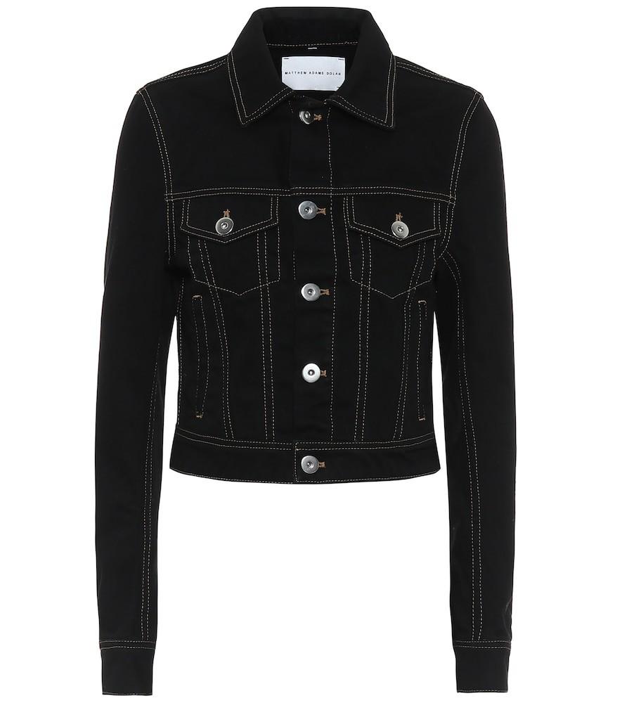 Matthew Adams Dolan Cropped denim jacket in black