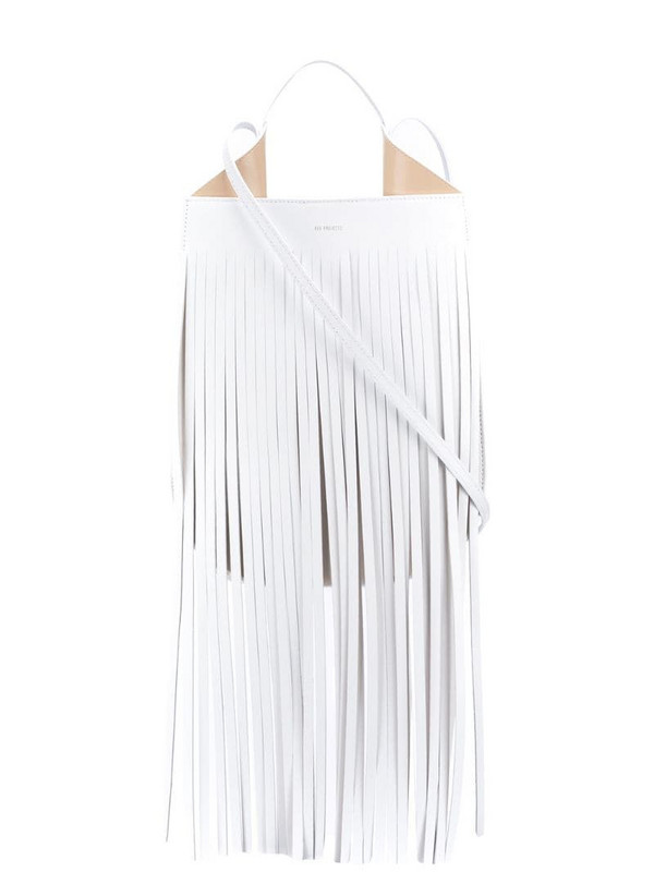 REE PROJECTS Helene fringed shoulder bag in white