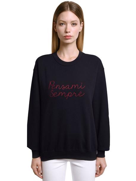 GIADA BENINCASA Pensami Sempre Embroidered Sweatshirt in black