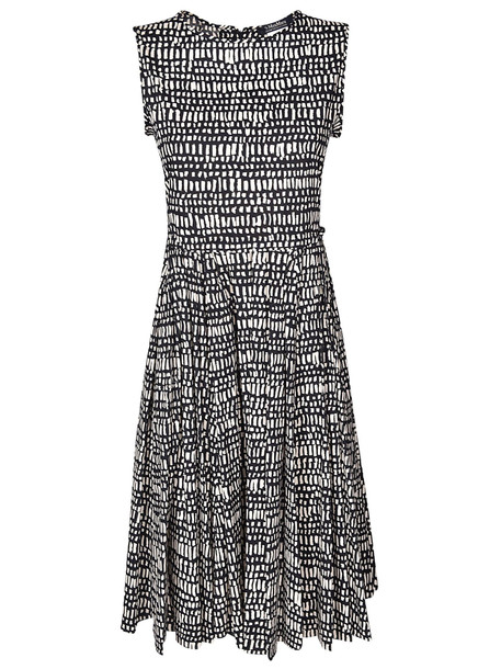 S Max Mara Patterned Dress in blue