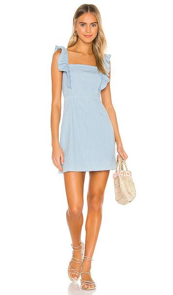 BB Dakota JACK by BB Dakota Chambray All Day Dress in Blue
