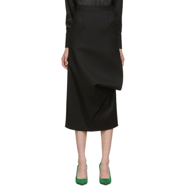 Materiel Tbilisi Black Side Slash Pencil Skirt