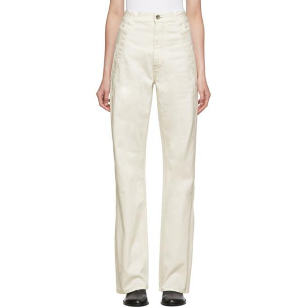 Maison Margiela Off-White Folded Side Jeans