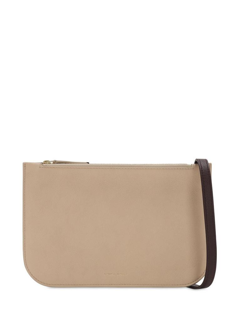MANSUR GAVRIEL Double Crossbody Leather Bag in beige