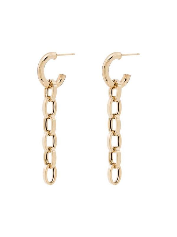 Loren Stewart 10kt yellow gold drop chain-link earrings