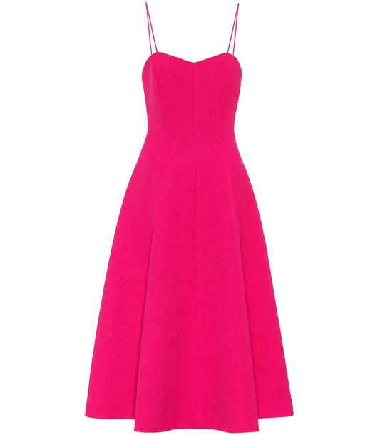 Rebecca Vallance Natalia jacquard midi dress in pink