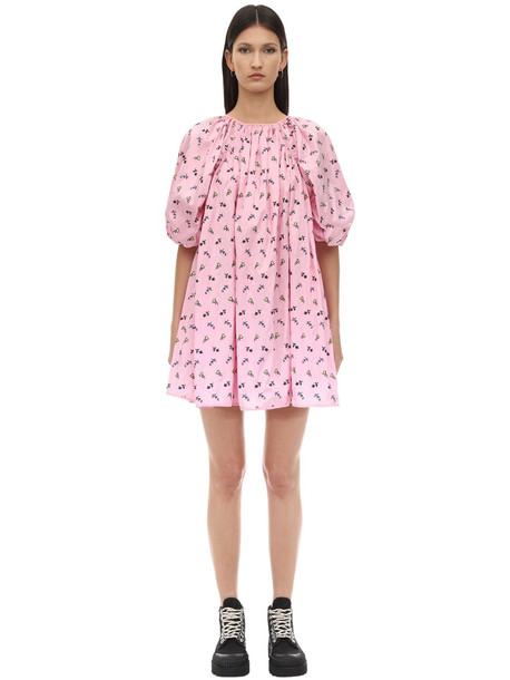 CECILIE BAHNSEN Arina Embroidered Nylon Dress in pink