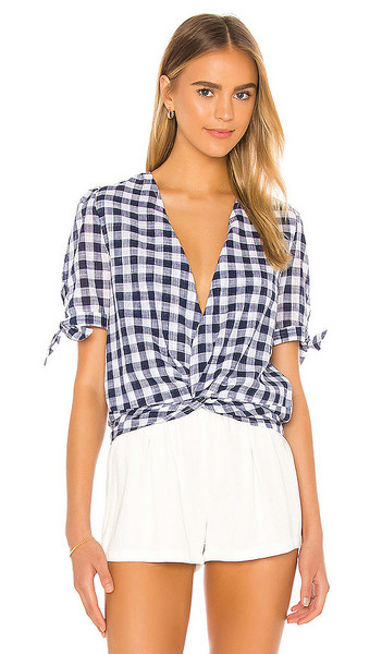 HEARTLOOM Kate Top in Blue in indigo