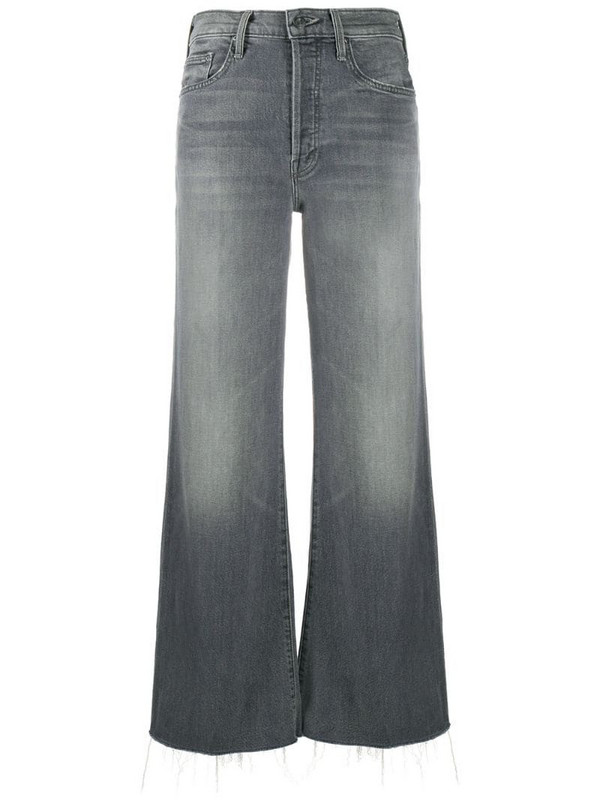 Mother flared leg jeans in grey