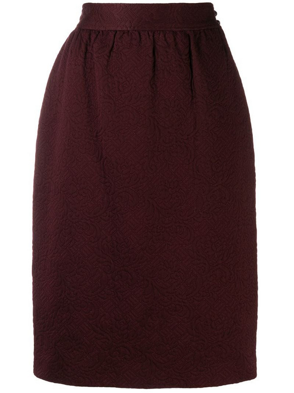 Emanuel Ungaro Pre-Owned '1980s pencil skirt in red