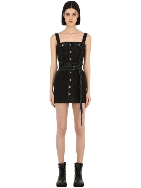 KSUBI Deejay Cotton Denim Dress in black