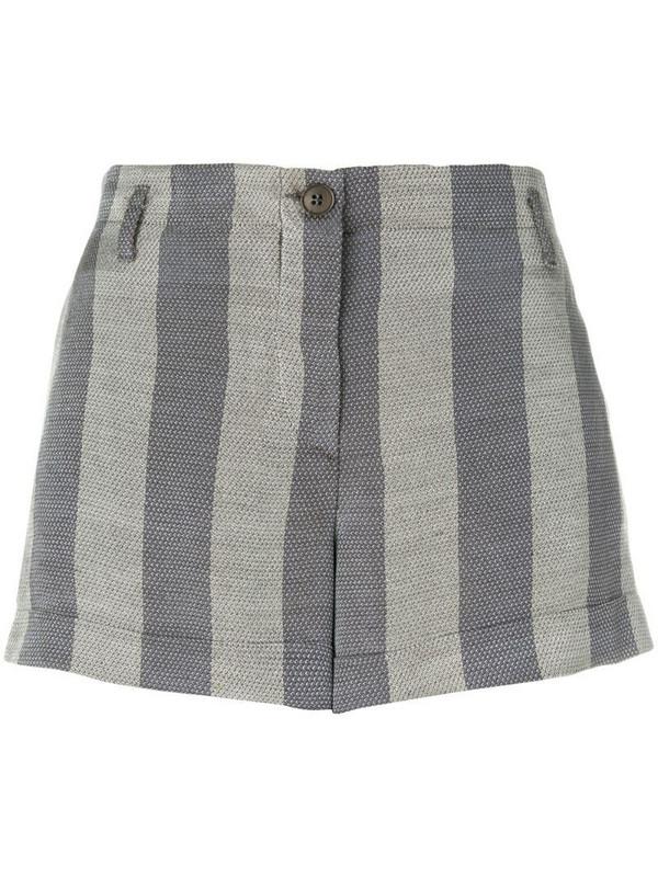 Giorgio Armani Pre-Owned striped mini shorts in grey