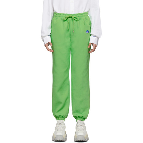 ADER error Green Stone Logo Lounge Pants