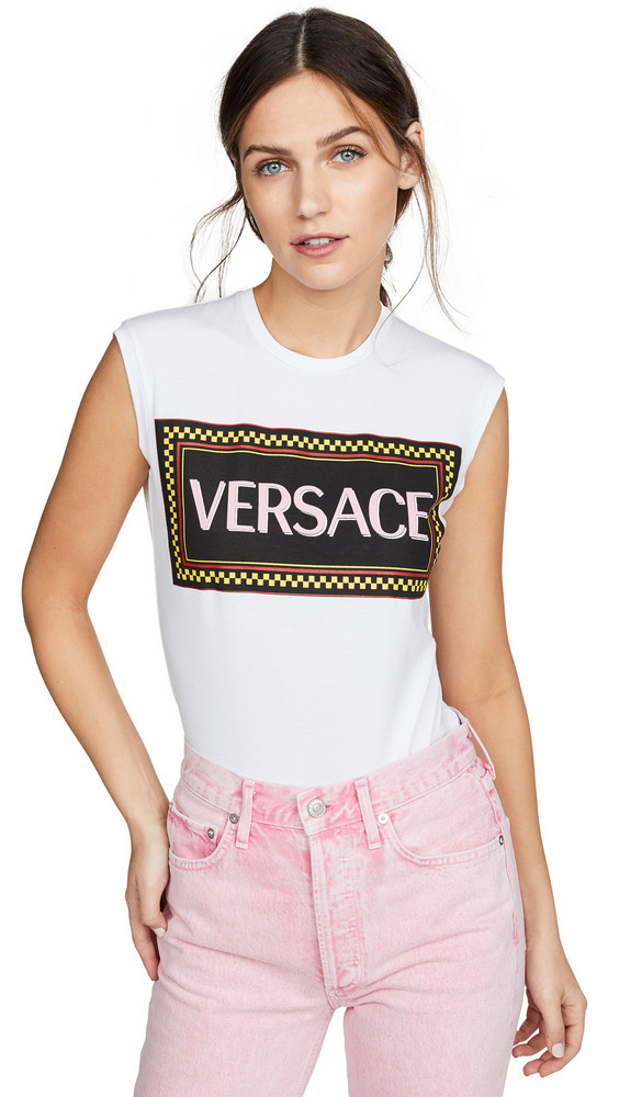 Versace Logo Tee in white