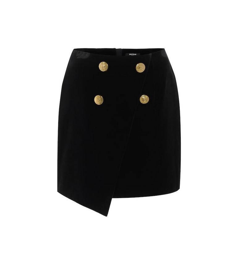 Balmain Velvet miniskirt in black