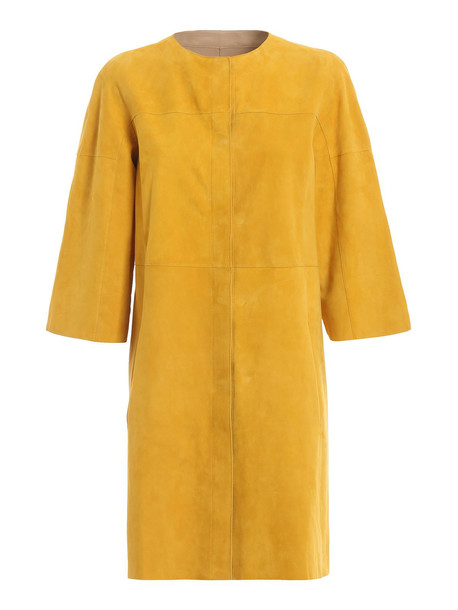 DROMe Drôme Reversible Coat in camel / mustard