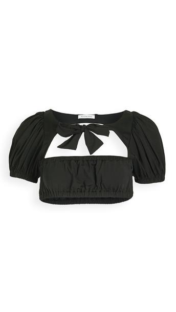 WeWoreWhat Lily Bikini Top in black