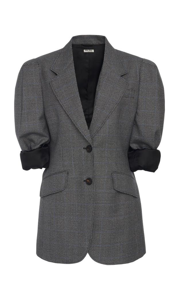 Miu Miu Padded Blazer Size: 38 in grey