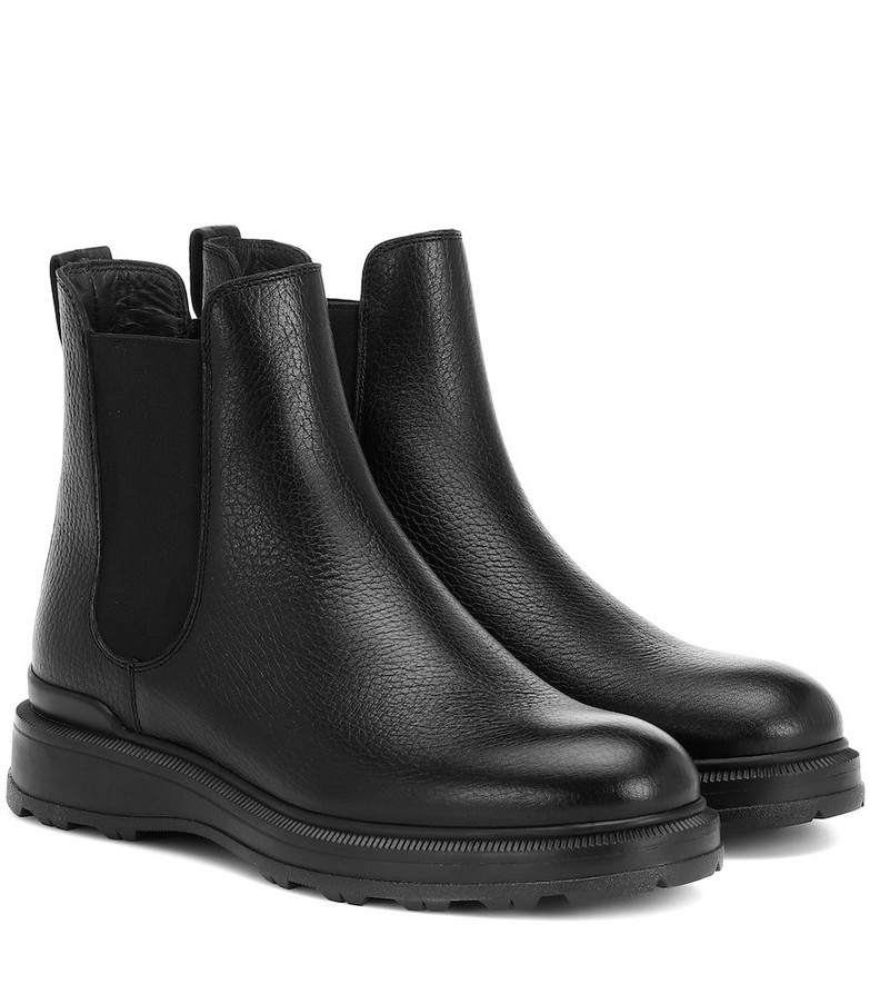 Woolrich Leather ankle boots in black