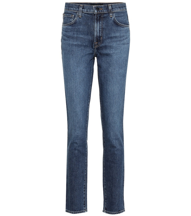 J Brand Ruby high-rise cropped skinny jeans in blue