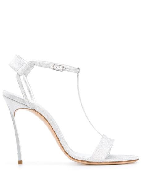 Casadei Selena 110mm sandals in silver